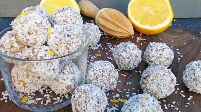 Baobab, Lemon & Coconut Bliss Balls