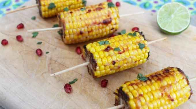 Corn On The Cob With A Sweet Chilli Baobab Marinade