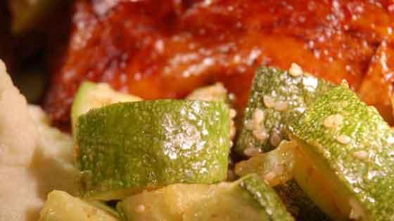 Sesame Parmesan Zucchini